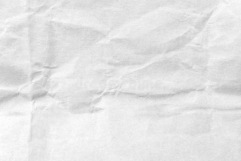 白色压皱纸纹理背景 r 免版税库存图片