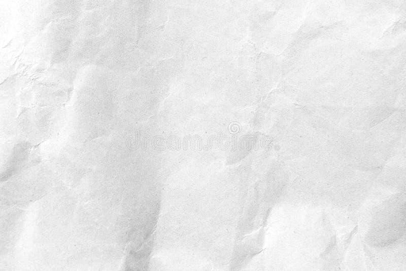 白色压皱纸纹理背景 r 免版税库存照片