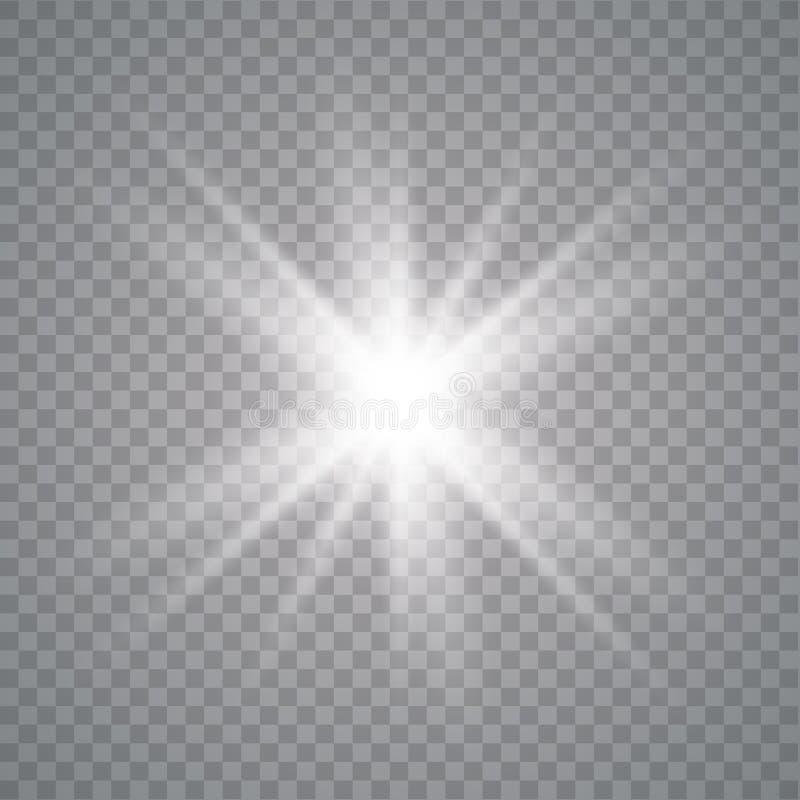 白色发光的光 皇族释放例证