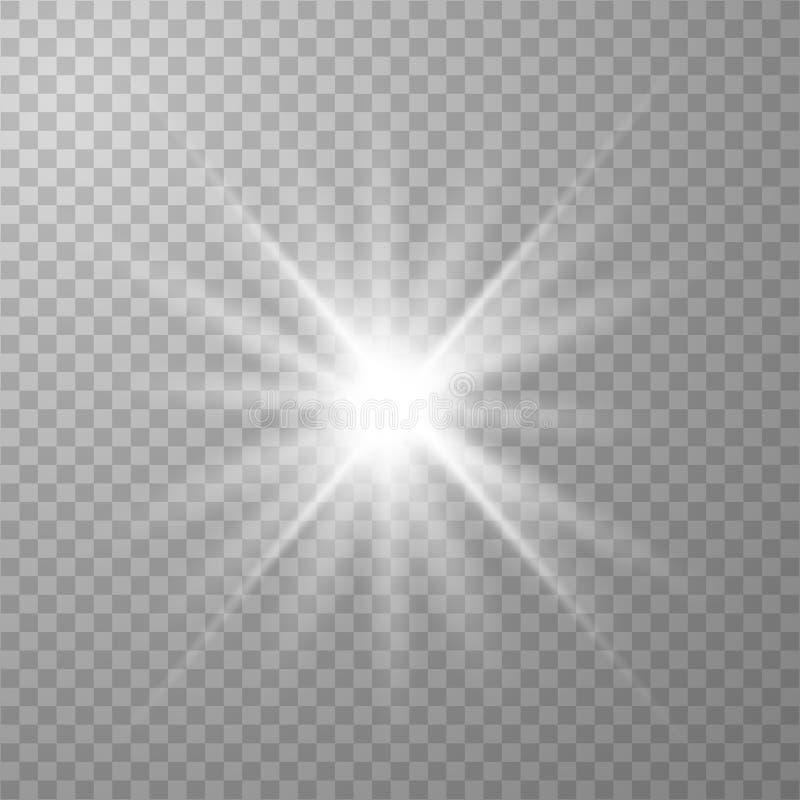 白色发光的光 库存例证
