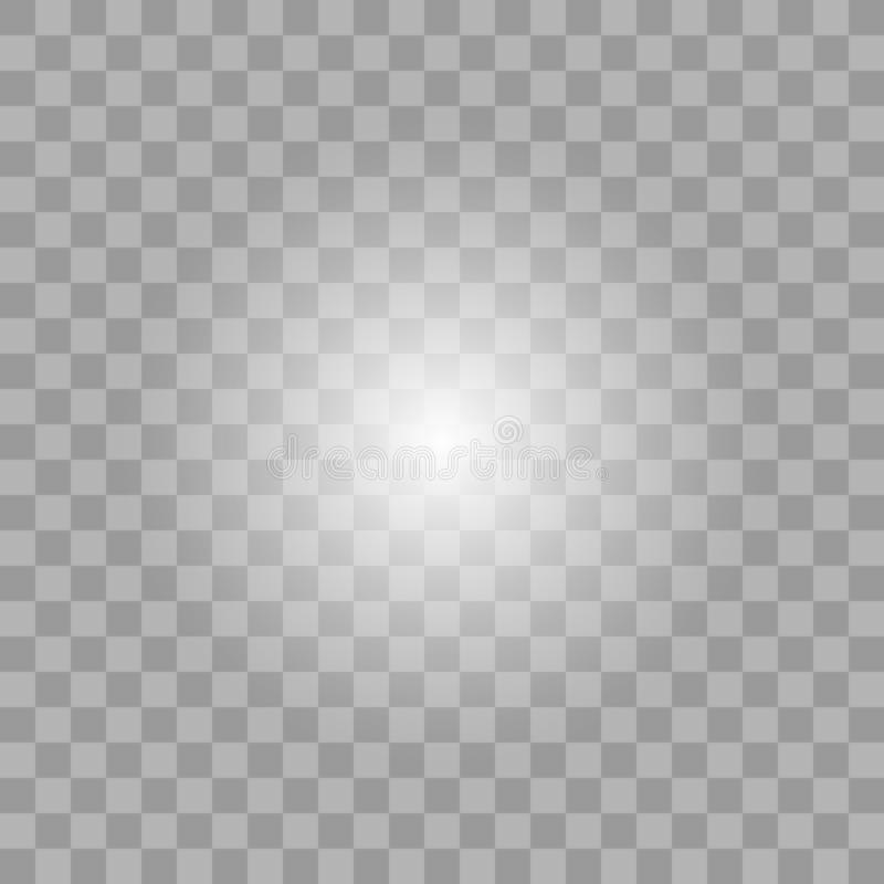 白色发光的轻的爆炸爆炸 皇族释放例证