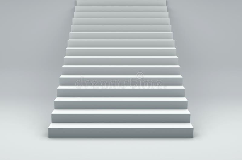 白色台阶正面图,有长方形步的 皇族释放例证