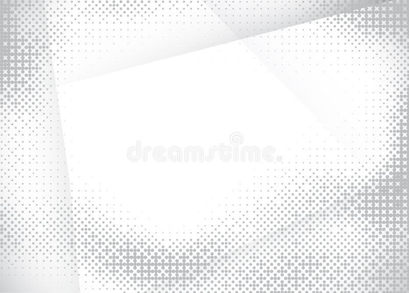白色和灰色传染媒介背景 库存例证