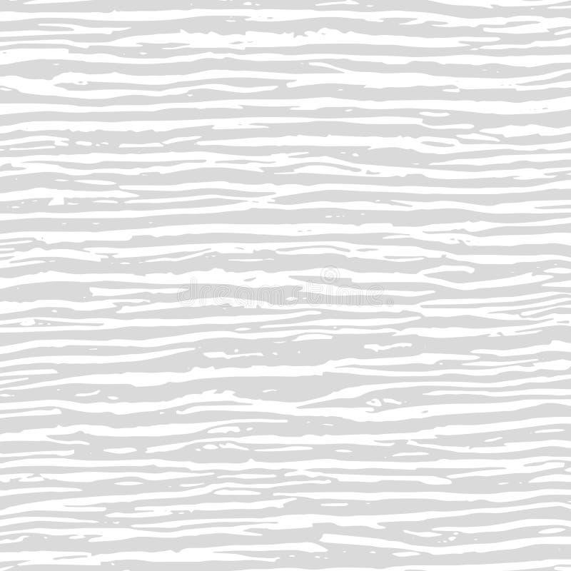 白色和灰色波浪混乱线纹理 抽象样式为 向量例证