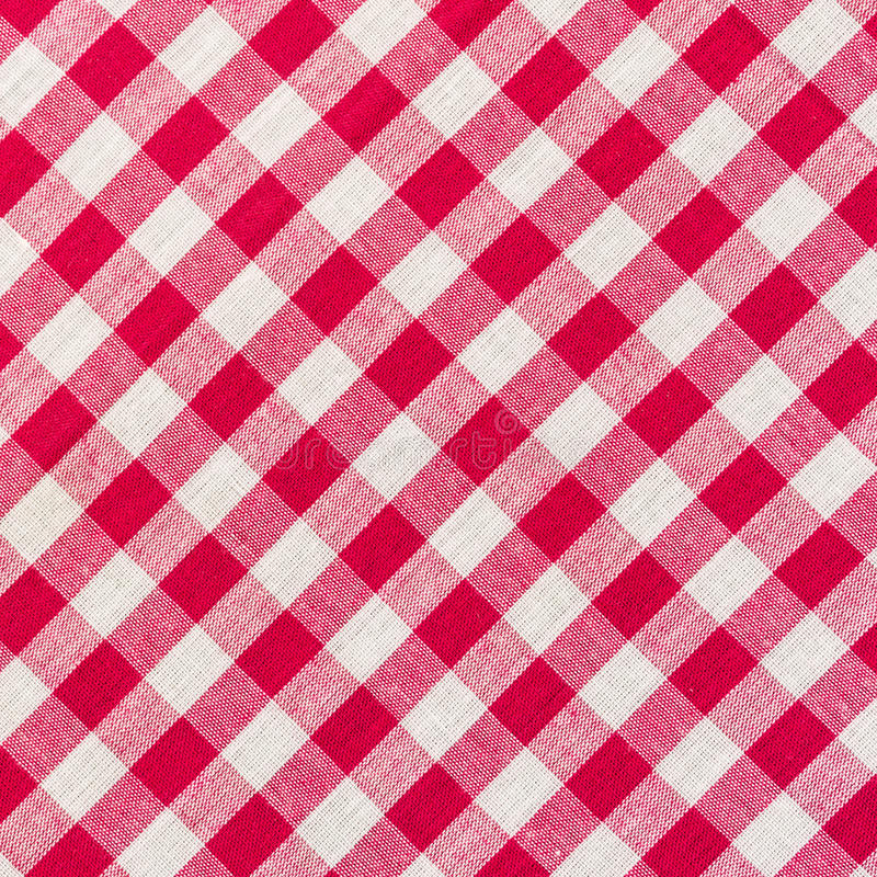 白色和红色方格的背景 免版税库存照片
