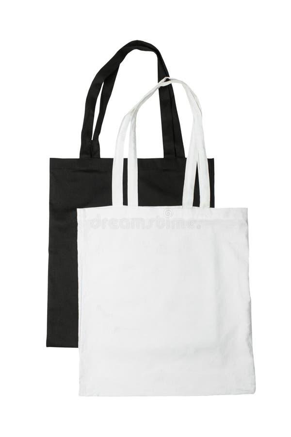 白色和黑袋子 免版税库存图片