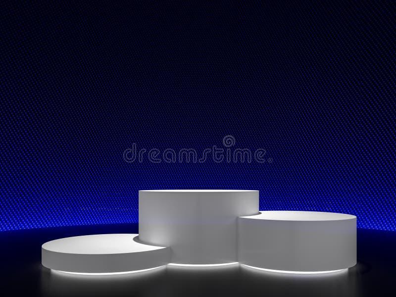 白色圆柱形产品显示3d回报 库存例证