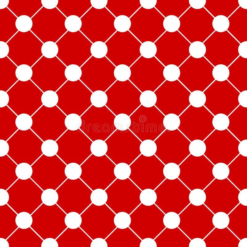 白色圆点棋盘红色圣诞节背景 皇族释放例证