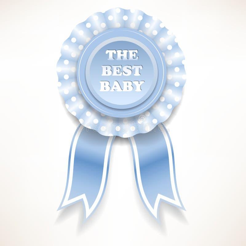 白色圆点的蓝色婴儿定货 也corel凹道例证向量 向量例证