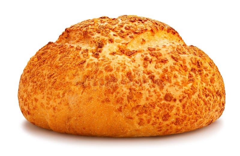 白色圆的面包 免版税库存图片
