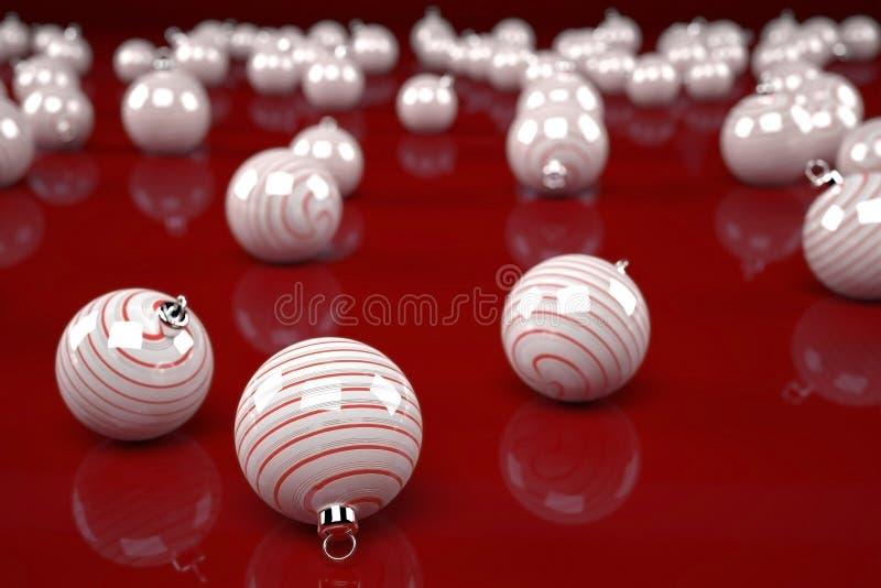 白色圣诞节装饰 图库摄影