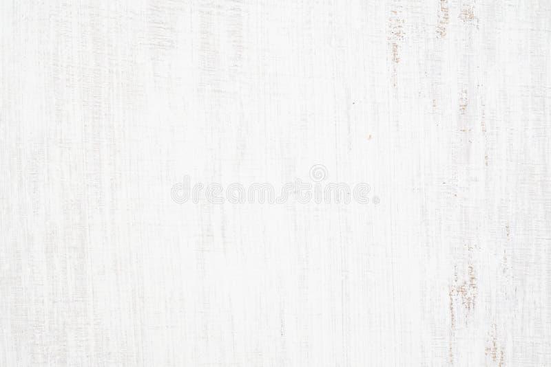 白色在木墙壁板条绘了木纹理无缝的生锈的难看的东西背景,抓了白色油漆  库存照片