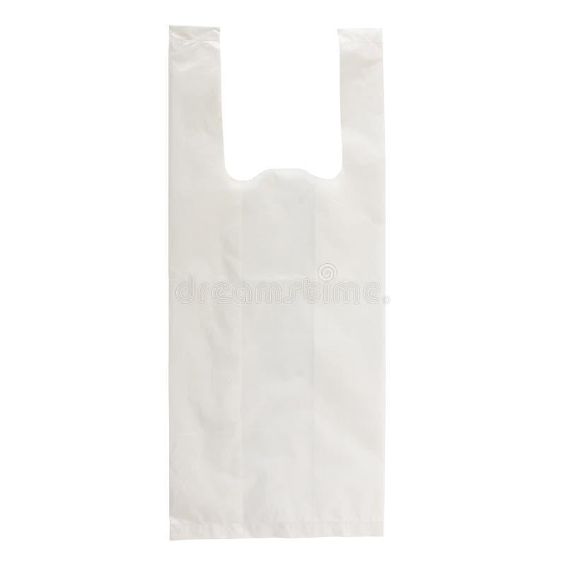 白色塑料袋 免版税库存照片