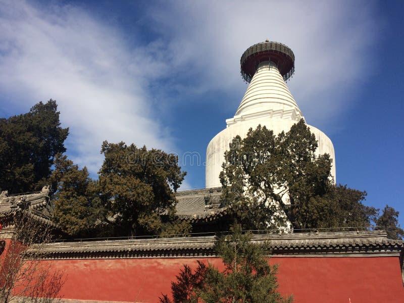 白色塔寺庙 库存照片