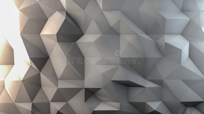 白色多角形背景 向量例证
