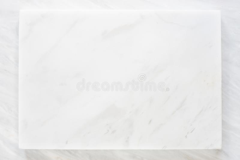 白色大理石层顶视图有灰色大理石纹理背景 免版税库存图片