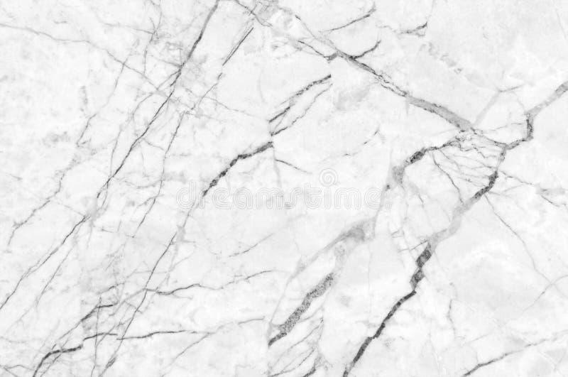 白色大理石纹理通过射击了与深深成脉络 免版税库存照片