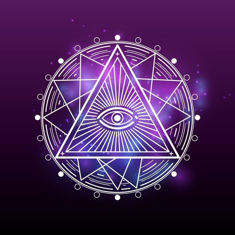 白色奥秘,隐密,方术,神秘神秘 皇族释放例证