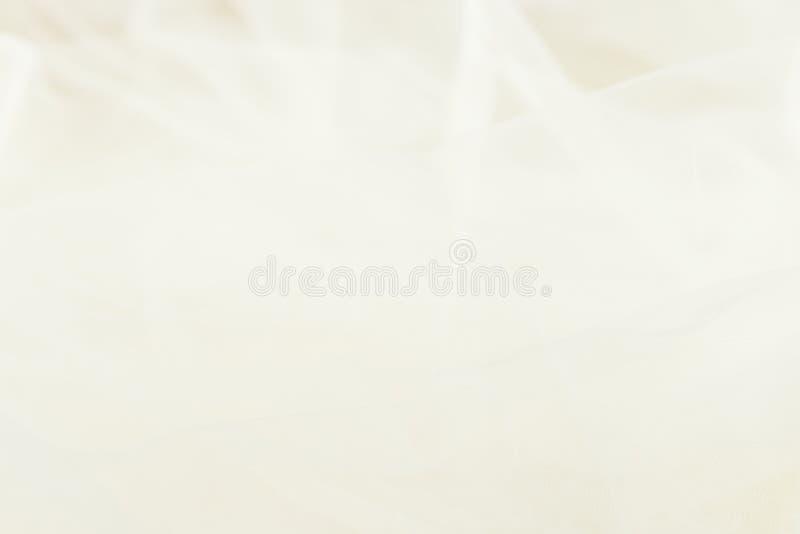 白色婚礼面纱抽象背景  免版税库存照片