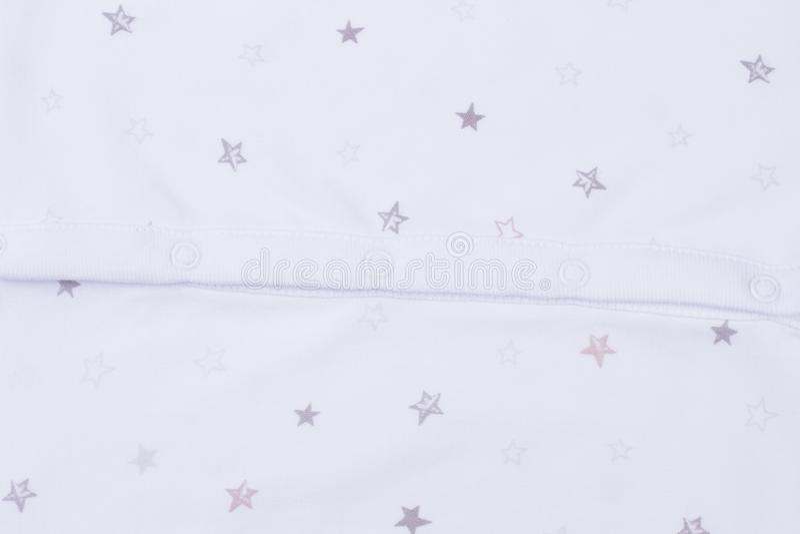 白色婴孩衣裳纹理 图库摄影