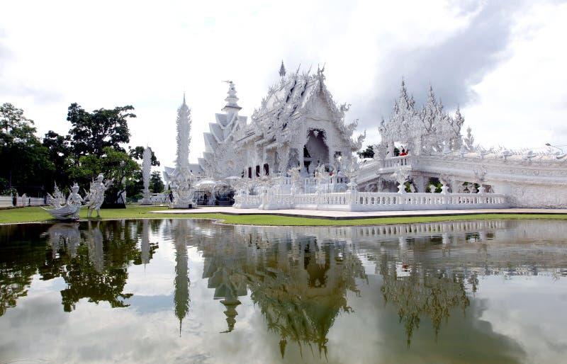 白色寺庙或者Wat荣Khun,清莱,泰国 免版税库存图片