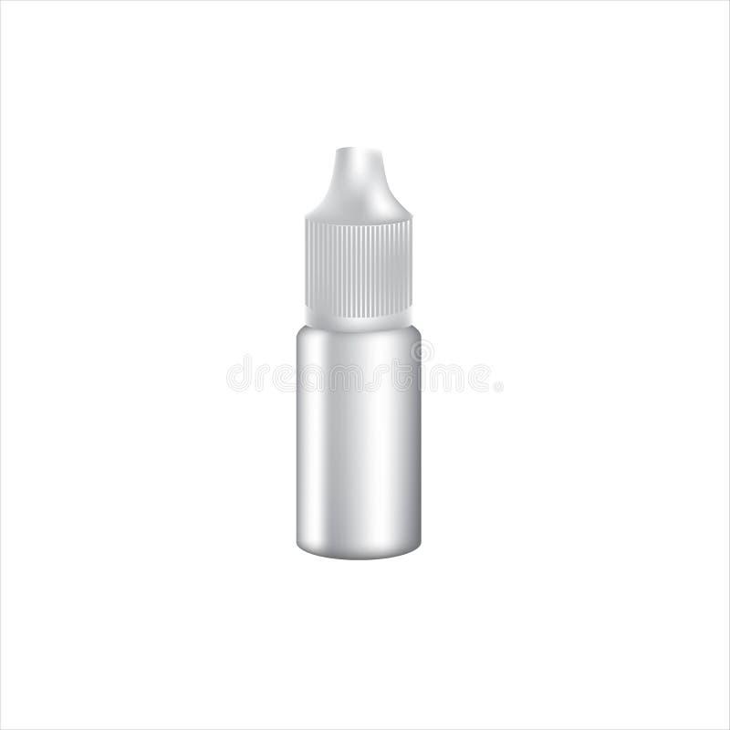 白色小滴瓶传染媒介大模型 皇族释放例证