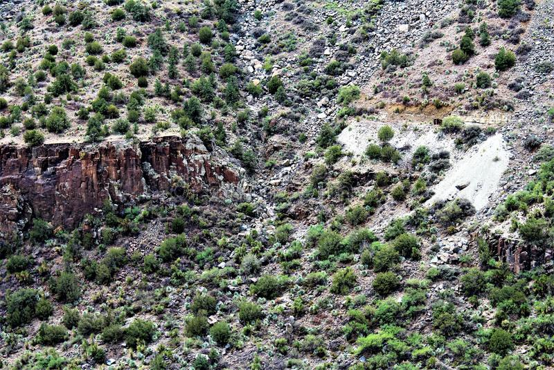 白色山亚帕基印第安保护区,亚利桑那,美国 图库摄影