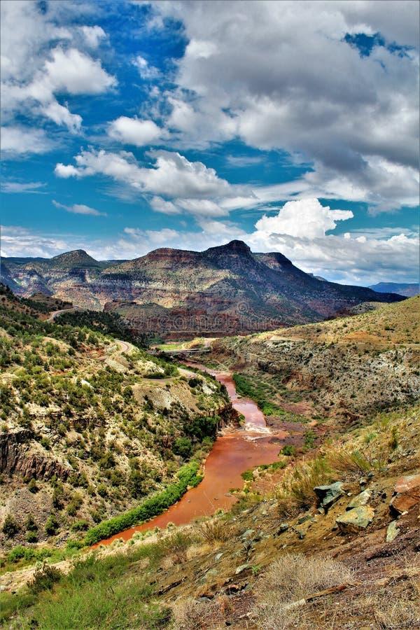 白色山亚帕基印第安保护区,亚利桑那,美国 免版税库存图片