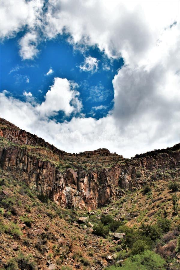 白色山亚帕基印第安保护区,亚利桑那,美国 免版税库存照片