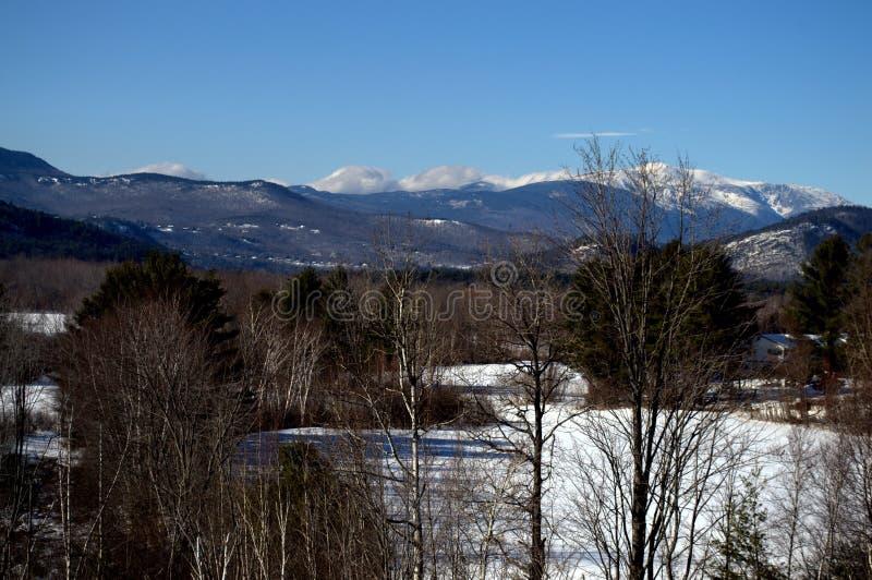 白色山的风景,北部康威NH 库存图片