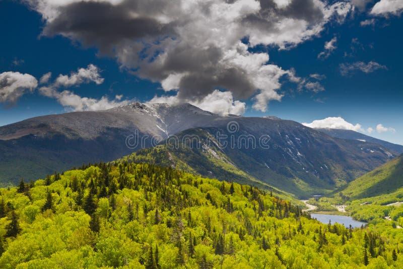 白色山,新罕布什尔 库存图片