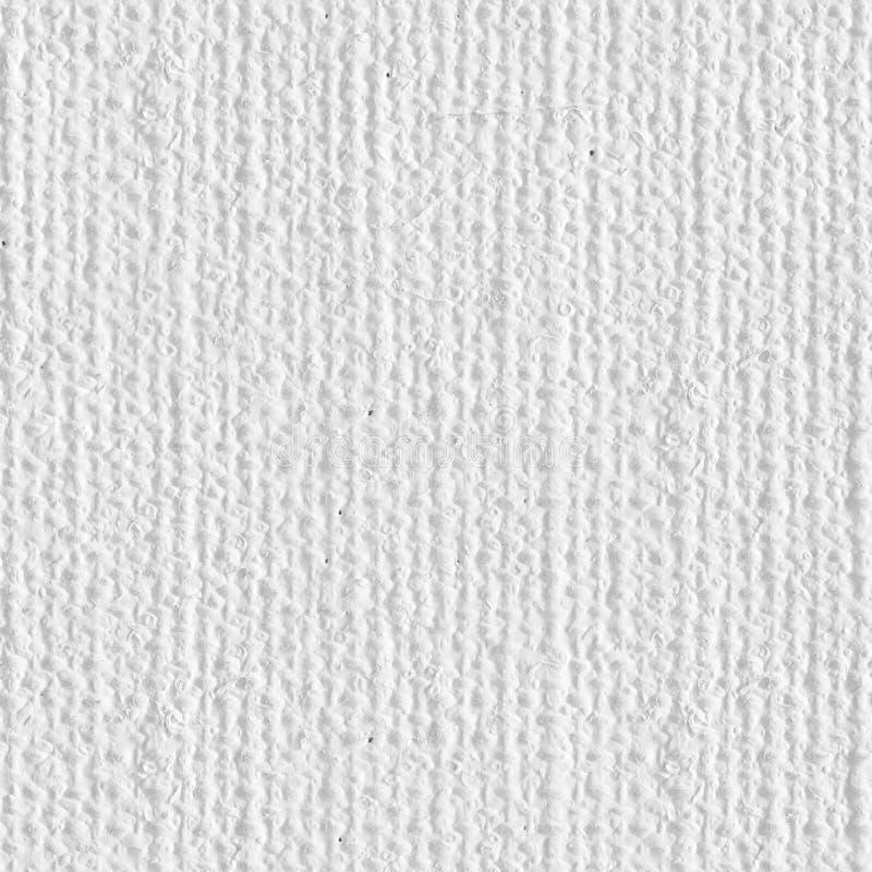 白色帆布 无缝的方形纹理 准备好的瓦片 免版税图库摄影