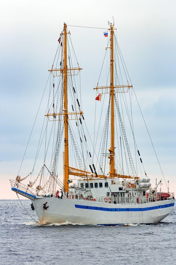 白色帆船 免版税库存图片