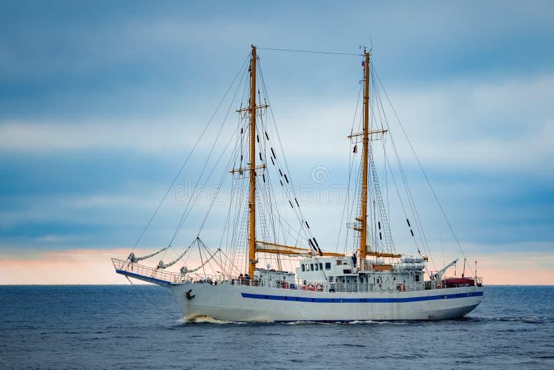 白色帆船 免版税图库摄影