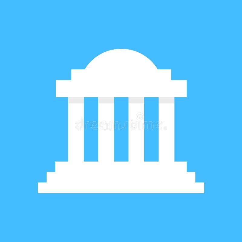 白色希腊柱廊大厦 库存例证