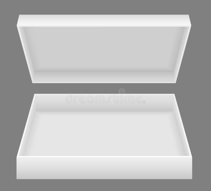 白色开放包装盒传染媒介例证 皇族释放例证