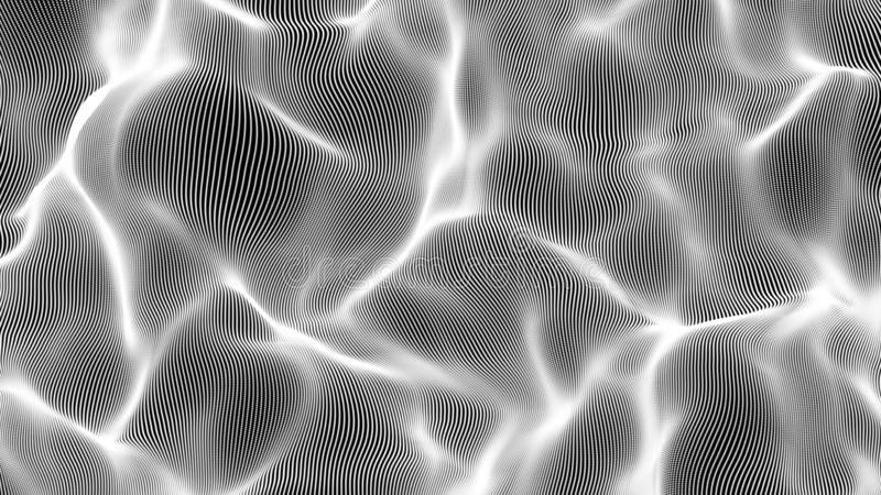 白色微粒波浪例证背景 向量例证