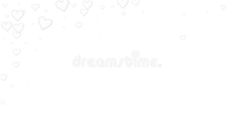 白色心脏爱五彩纸屑 情人节fallin 库存例证
