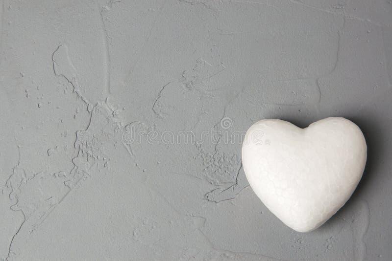 白色心脏 库存图片