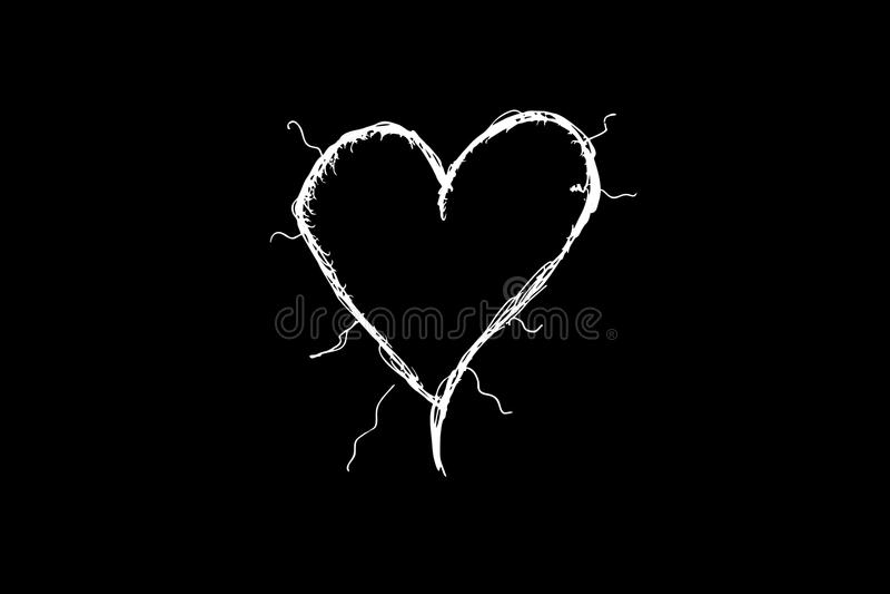 白色心脏 图库摄影