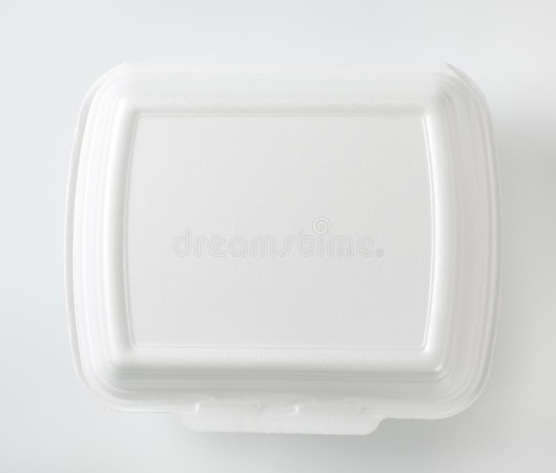 白色快餐箱子 免版税库存图片