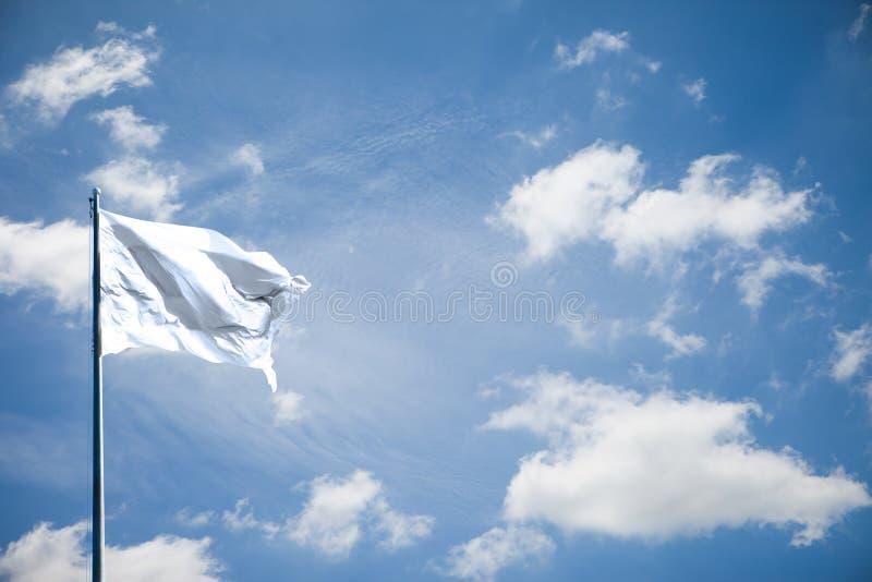 白色或空白的旗子 免版税库存照片