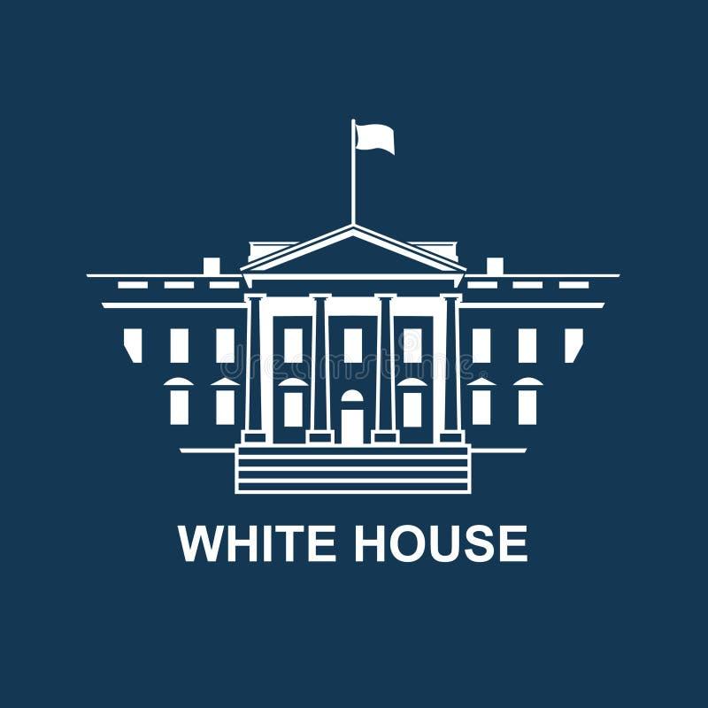白色房子象 向量例证