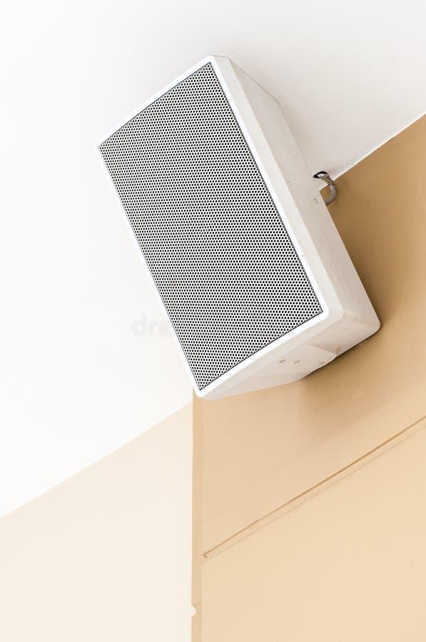 白色扩音器 免版税库存图片