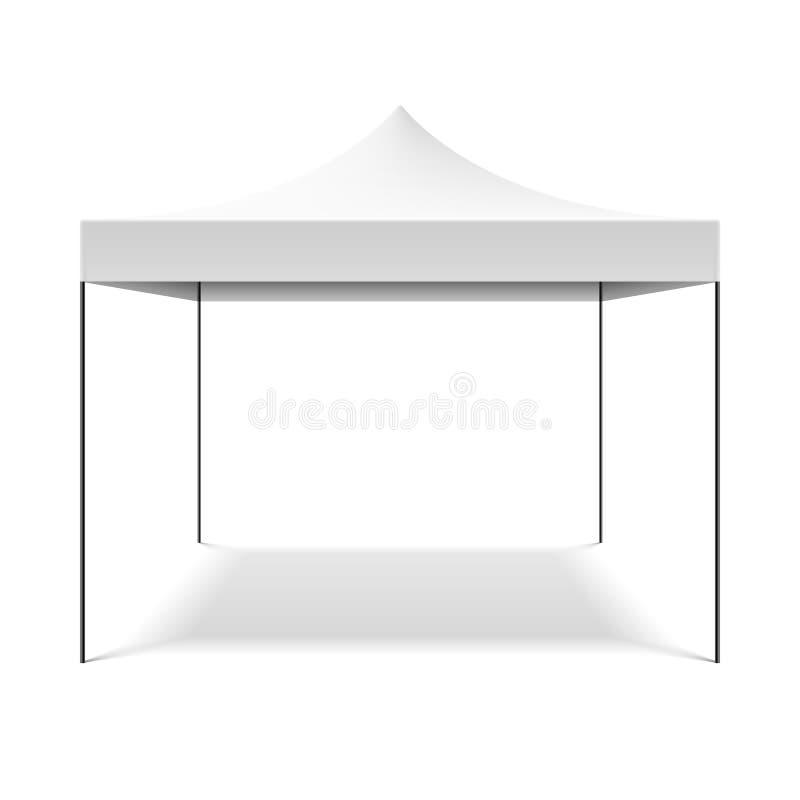 白色折叠的帐篷 向量例证