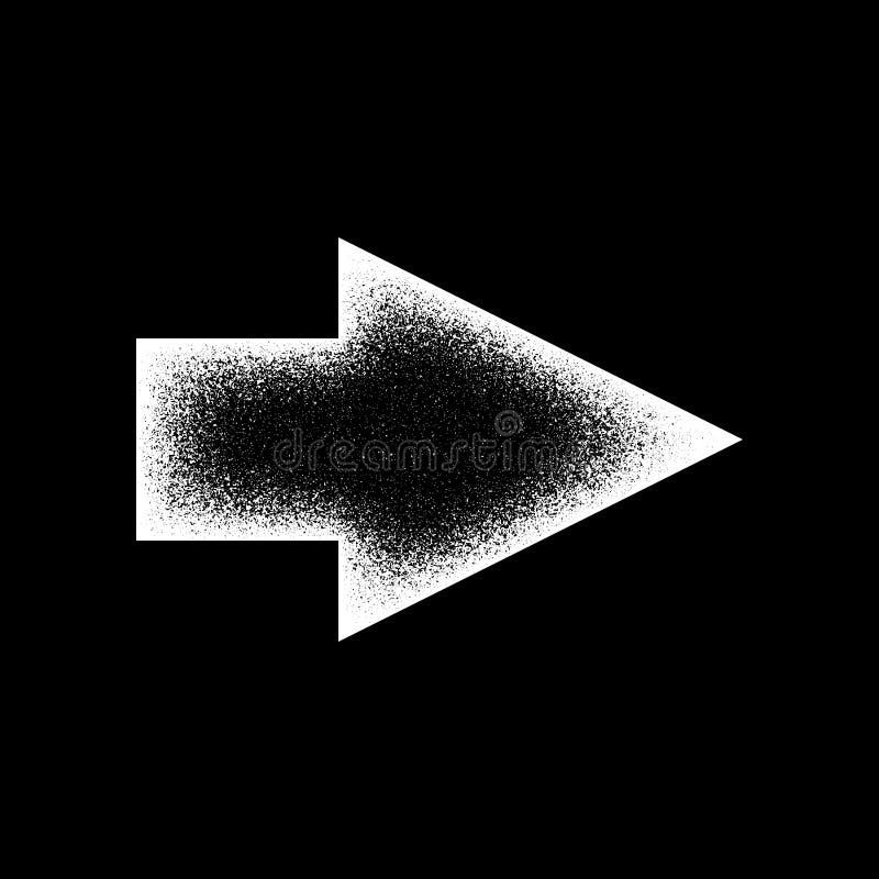 白色抽象右箭头标志 向量例证