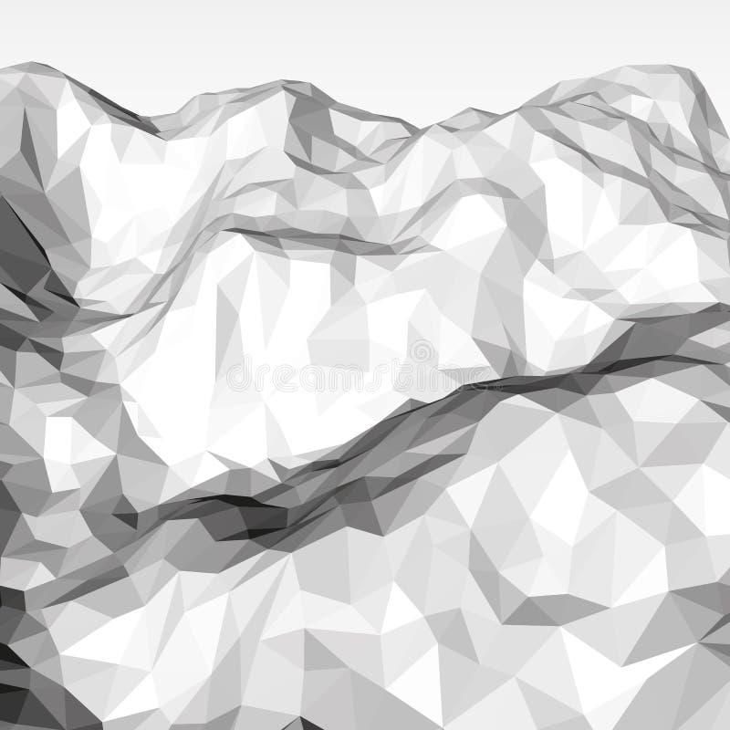 白色抽象多角形背景 向量例证