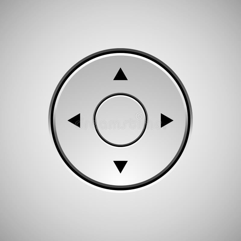 白色抽象控制杆按钮模板 皇族释放例证