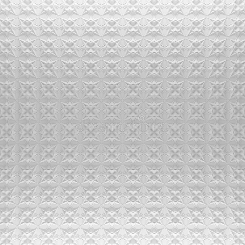 白色抽象样式背景 回报几何多角形的3d 皇族释放例证