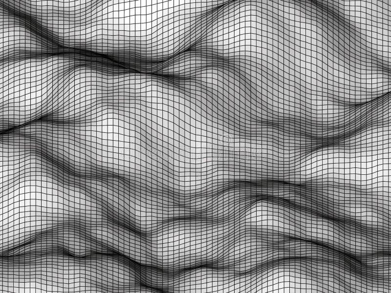白色抽象海拔多角形背景 库存例证